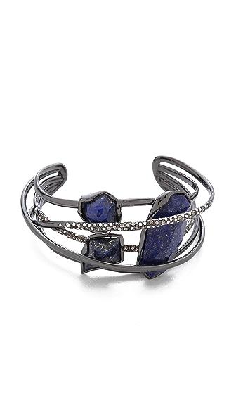Alexis Bittar Five Ringed Lapis Cuff Bracelet