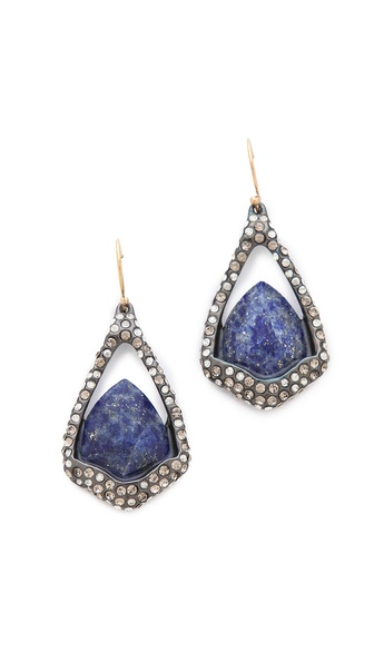 Alexis Bittar Suspended Lapis Drop Earrings