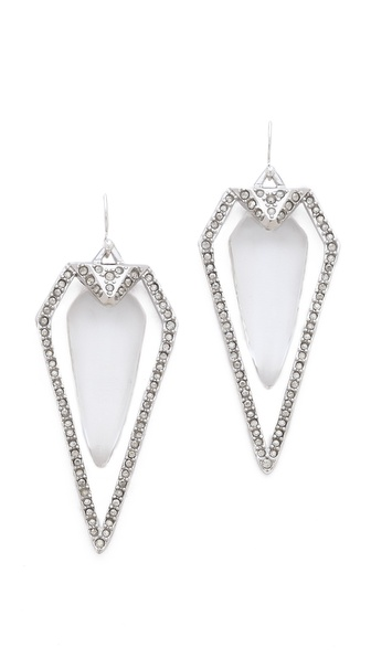 Alexis Bittar Winter Deco Pave Arrow Head Earrings