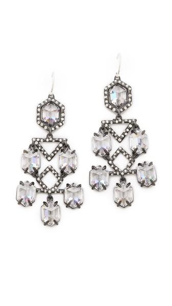 Alexis Bittar Pavo Chandelier Crystal Earrings