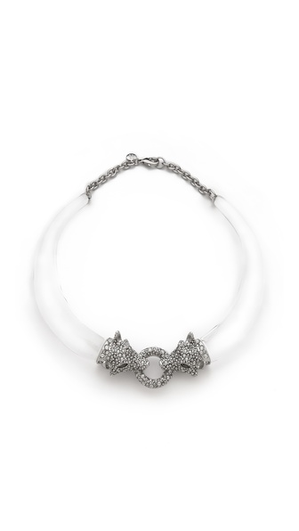 Alexis Bittar Winter Deco Face To Face Wolf Collar