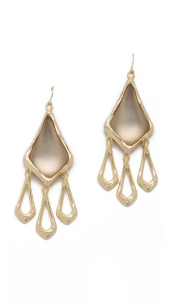 Alexis Bittar Antibes Watery Drop Chandelier Earrings
