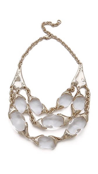 Alexis Bittar Antibes Textured Pebble & Crystal Necklace