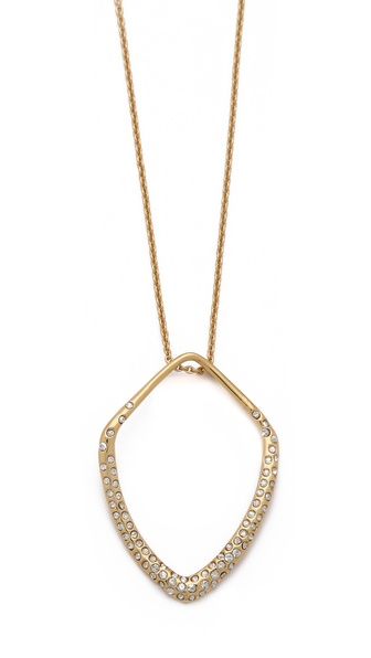 Alexis Bittar Pave Kite Orbit Pendant Necklace