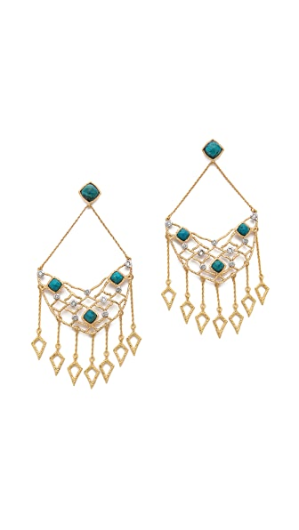 Alexis Bittar Mosaic Dangling Spear Chandelier Earrings
