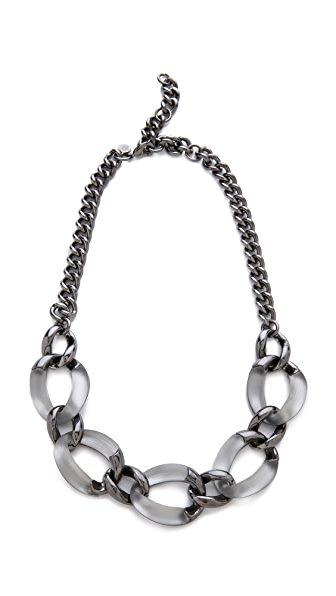 Alexis Bittar Neo Bohemian Lucite Link Necklace