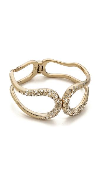 Alexis Bittar Crystal Encrusted Hinged Bracelet