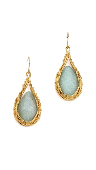Alexis Bittar Feathererd Drop Earrings