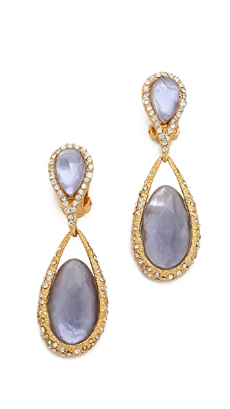 Alexis Bittar Dangling Clip On Earrings