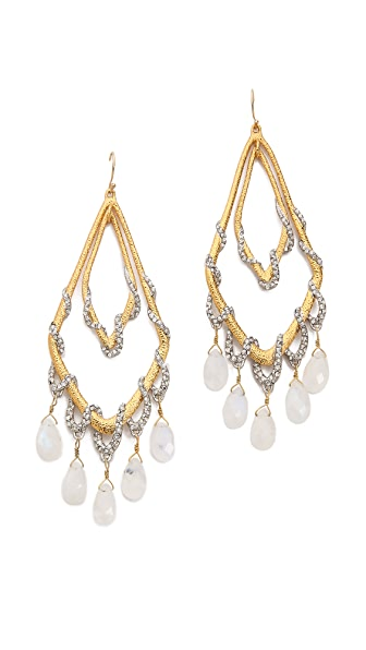 Alexis Bittar Orbiting Tear Draping Pave Earrings