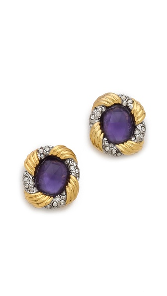 Alexis Bittar Feather Stud Earrings