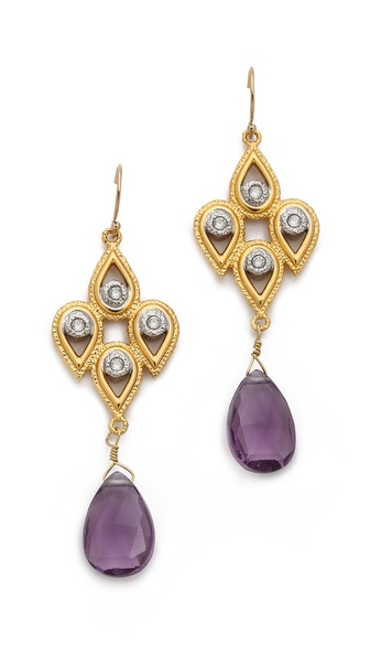 Alexis Bittar Articulating Scalloped Tear Earrings
