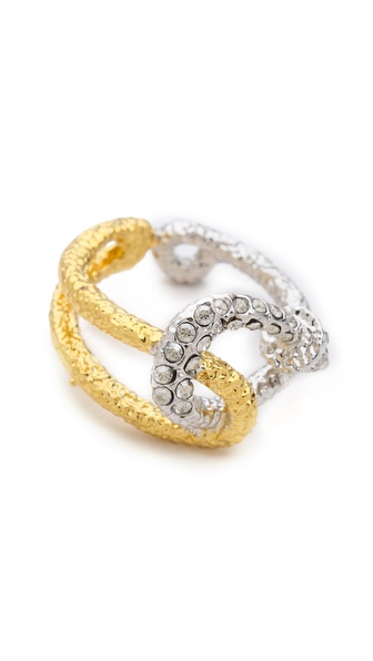 Alexis Bittar Encrusted Fish Hook Ring