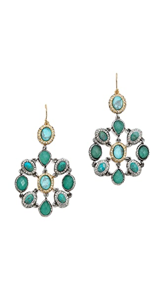 Alexis Bittar Crystal Encrusted Mosaic Earrings