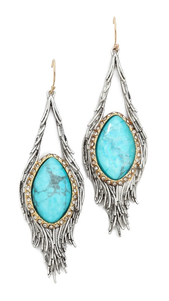 Alexis Bittar Feathered Tear Doublet Pave Earrings