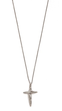 Alexis Bittar Liquid Cross Pendant Necklace
