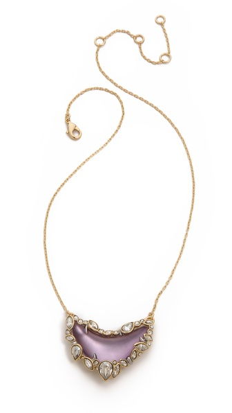 Alexis Bittar Crystal Framed Crescent Necklace