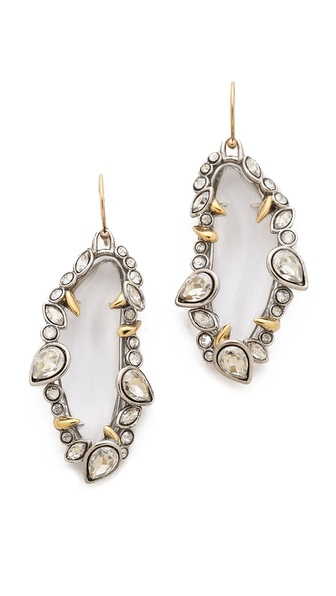 Alexis Bittar Jagged Edge Crystal Framed Dangle Earrings
