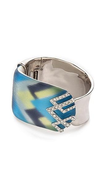 Alexis Bittar Crystal Stenciled Wrap Liquid Cuff Bracelet