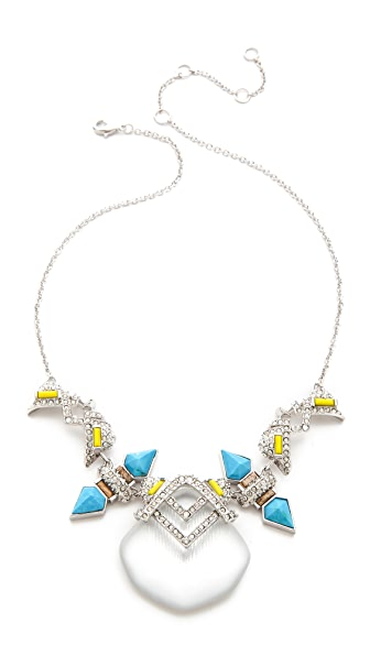 Alexis Bittar Matrix Baguette Open Pave Capped Necklace