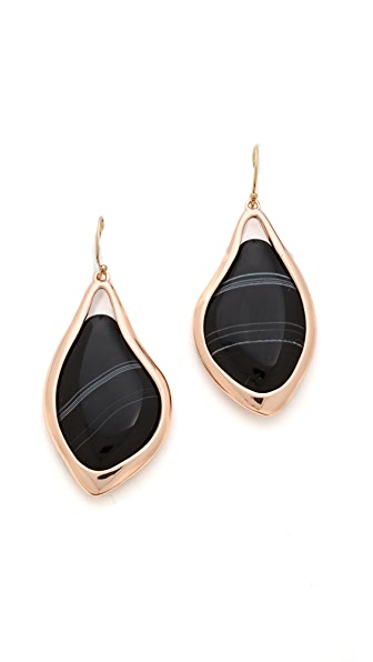 Alexis Bittar Infinity Banded Agate Earrings