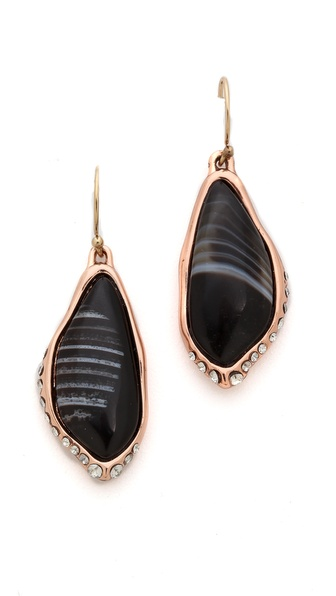 Alexis Bittar Infinity Drop Banded Agate Earrings