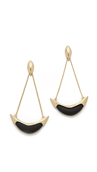 Alexis Bittar Liquid Suspended Cresent Earrings