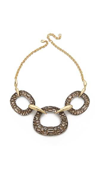 Alexis Bittar Crocodile Textured Bib Necklace