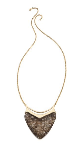 Alexis Bittar Crocodile Dagger Pendant Necklace