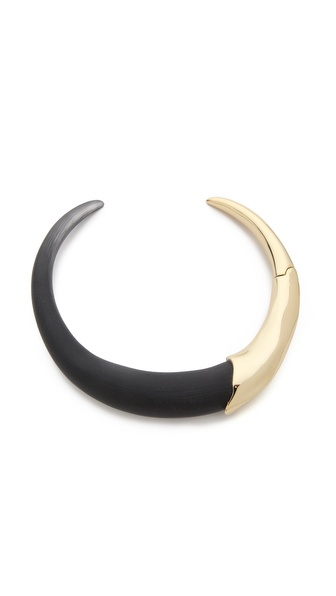 Alexis Bittar Liquid Metal Hinged Collar Necklace