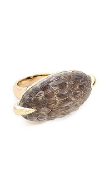 Alexis Bittar Crocodile Textured Cabochon Cocktail Ring