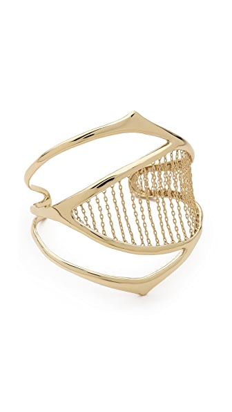 Alexis Bittar Chain Ribbed Cuff Bracelet