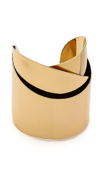 Alexis Bittar Geometric Ribbon Cuff Bracelet