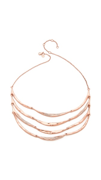 Alexis Bittar Tiered Artic Bib Necklace