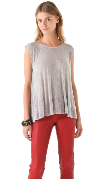 AIR by alice + olivia Cinch Back Top
