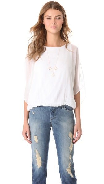 Air By Alice + Olivia Pool Batwing Top - White at Shopbop / East Dane