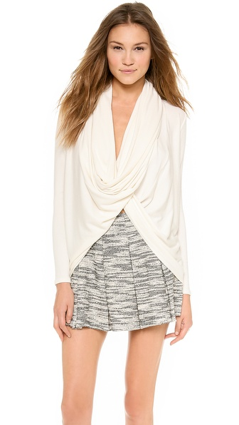 Air By Alice + Olivia Drape Wrap Around Top - Cream at Shopbop / East Dane