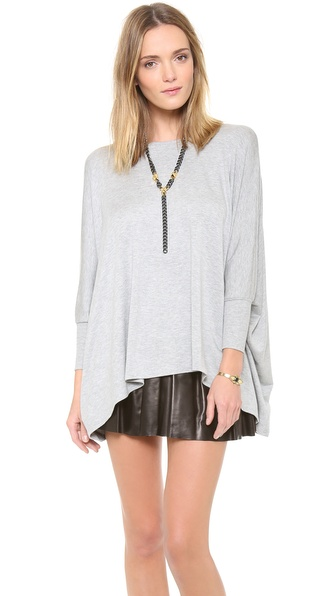 Air By Alice + Olivia Boat Neck Rectangle Tee - Grey at Shopbop / East Dane