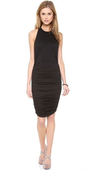 Air By Alice + Olivia Zip Back Ruched Dress - Black at Shopbop / East Dane
