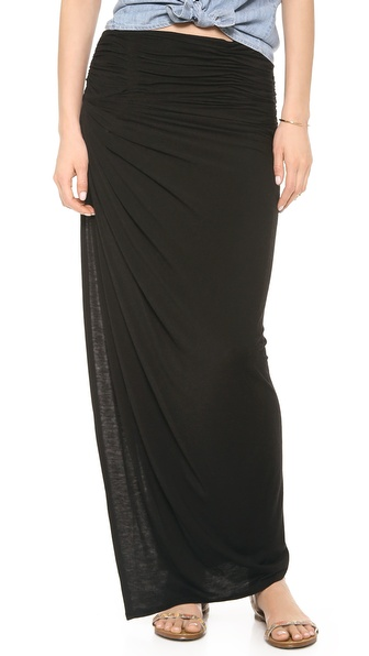 Air By Alice + Olivia Kay Covertible Ruched Skirt - Black at Shopbop / East Dane