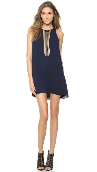 Air By Alice + Olivia Loose Tank Dress - Navy at Shopbop / East Dane