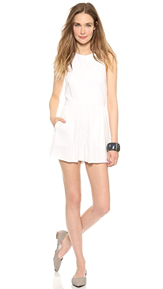 AIR by alice + olivia Halter Top Romper