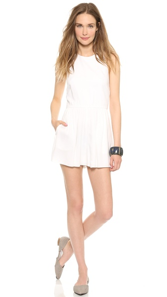 Air By Alice + Olivia Halter Top Romper - White at Shopbop / East Dane