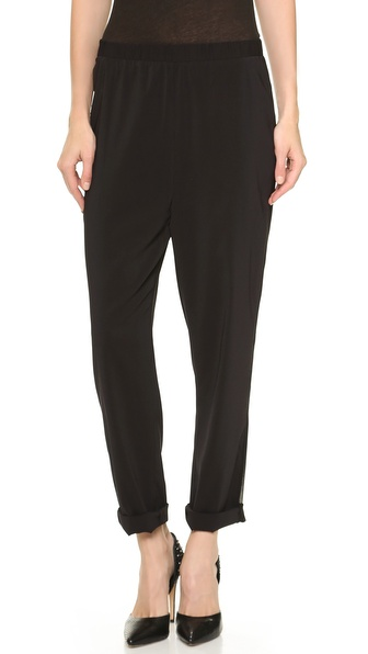Air By Alice + Olivia Side Panel Elastic Waist Sweatpants - Black at Shopbop / East Dane