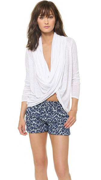 AIR by alice + olivia Draped Wrap Around Top