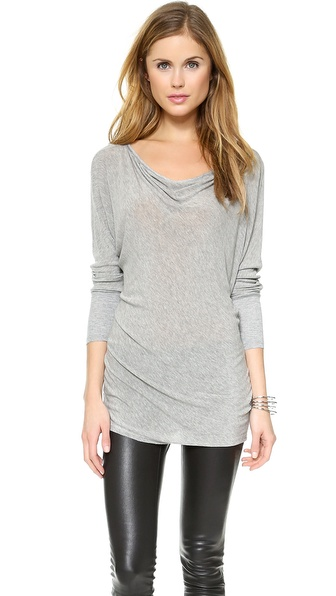 Air By Alice + Olivia Boat Neck Slouchy Tee - Grey at Shopbop / East Dane