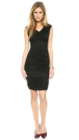 AIR by alice + olivia Overlap Ruched Body Con Dress