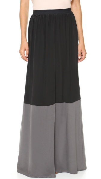AIR by alice + olivia Colorblock Wrap Maxi Skirt