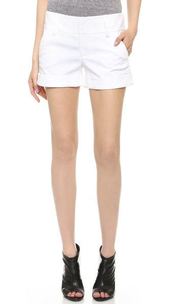 Alice + Olivia Cady Cuff Shorts - White at Shopbop / East Dane