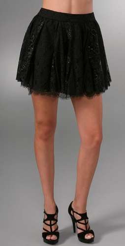 alice + olivia Short Lace Skirt